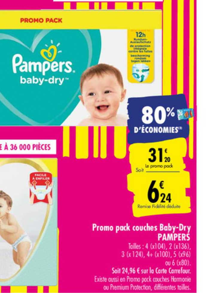 Carrefour Promo Pack Couches Baby Dry Pampers