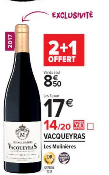 Carrefour Market Vacqueyras Les Molinières 2+1 Offert