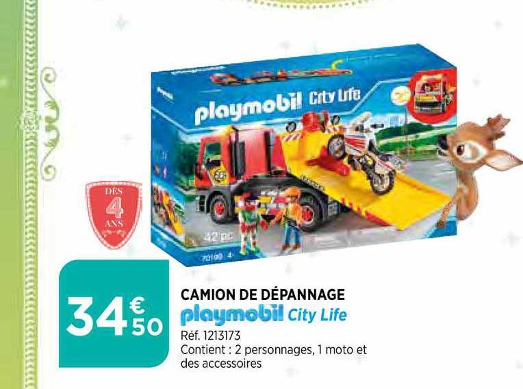 Bi1 Camion De Dépannage Playmobil City Life