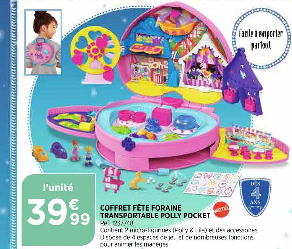 Bi1 Coffret Fête Foraine Transportable Polly Pocket