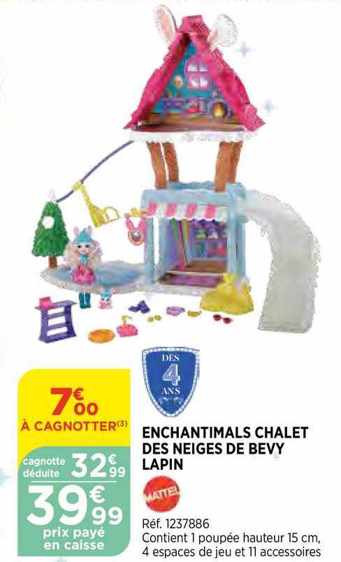 Bi1 Enchantimals Chalet Les Neiges De Bevy Lapin