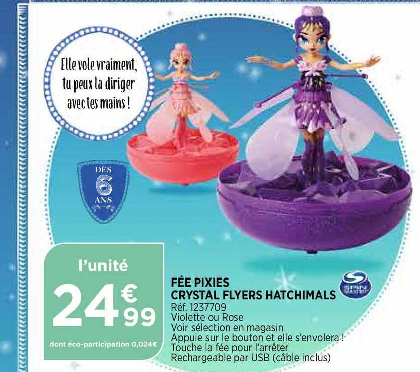Bi1 Fée Pixies Crystal Flyers Hatchimals
