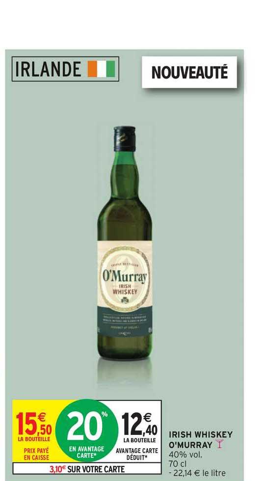 Intermarche Irish Whiskey O'murray