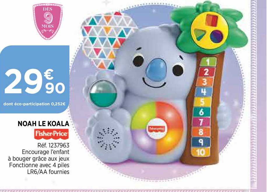 Bi1 Noah Le Koala Frisher Price