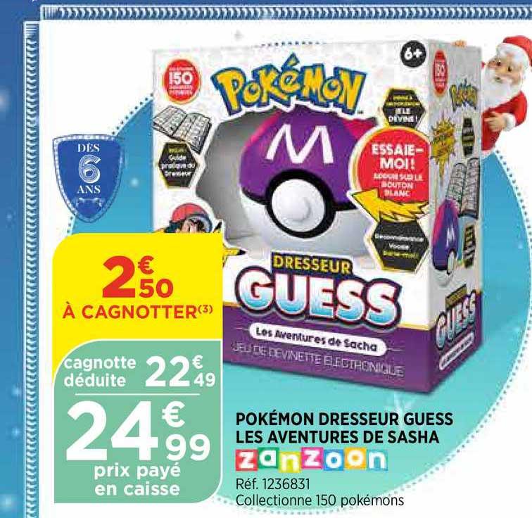 Bi1 Pokémon Dresseur Guess Les Aventures De Sasha