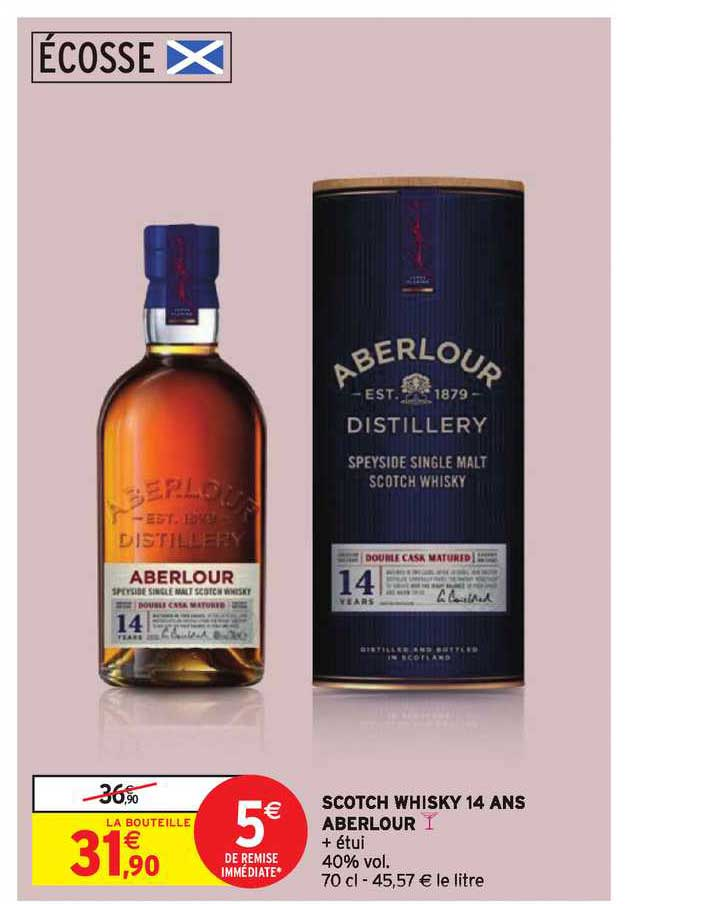Intermarché Scotch Whisky 14 Ans Aberlour