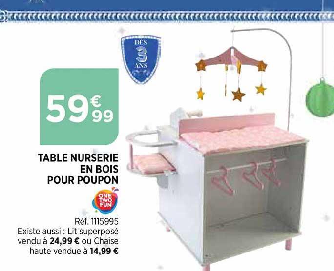 Bi1 Table Nurserie En Bois Pour Poupon