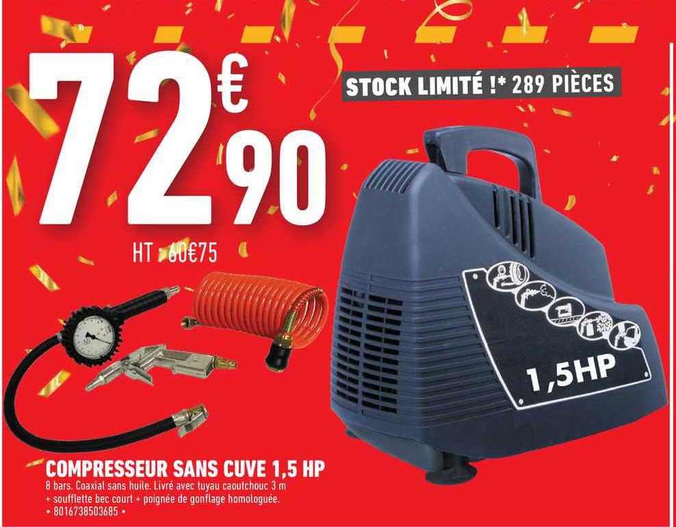 Brico Cash Compresseur Sans Cuve 1,5 Hp