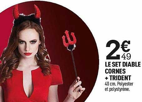 Centrakor Le Set Diable Cornes + Trident