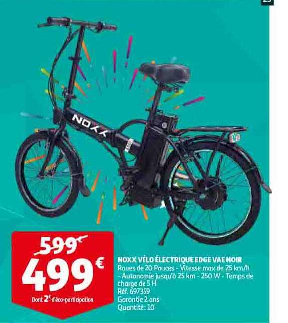 Auchan Direct Noxx Vélo électrique Edge Vae Noir