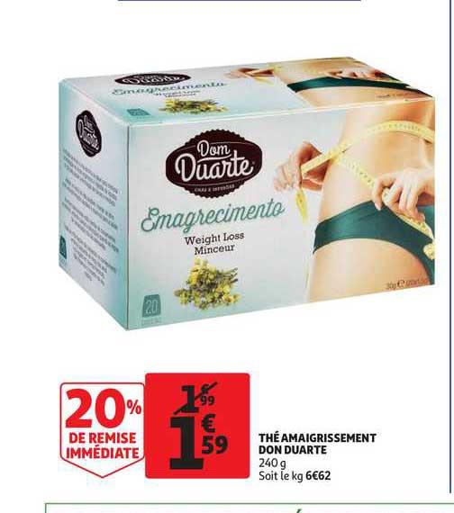 Auchan Direct Thé Amaigrissement Don Duarte 20% De Remise Immédiate