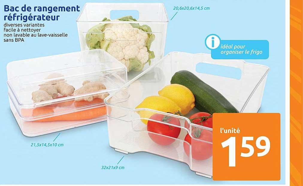 Action Bac De Rangement Réfrigérateur