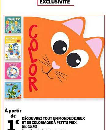 Offre Jeux Et Coloriages Chez Auchan