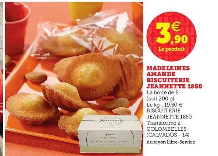 U Express Madeleines Amande Biscuiterie Jeannette 1850