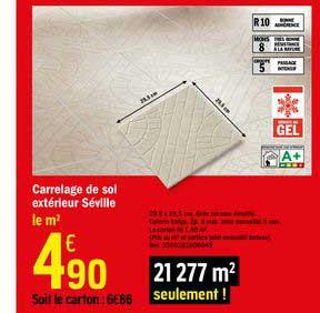 Offre Carrelage De Sol Exterieur Seville Chez Brico Depot