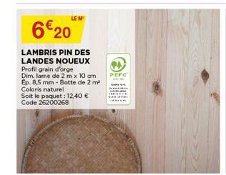 Bricomarché Lambris Pin Des Landes Noueux