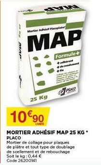 Bricomarché Mortier Adhésif Map 25 Kg Placo