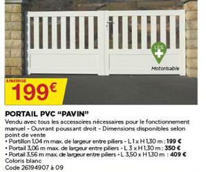 Bricomarché Portail Pvc Pavin