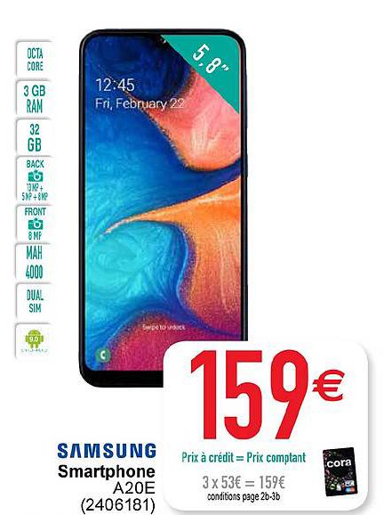 Cora Samsung Smartphone A20e