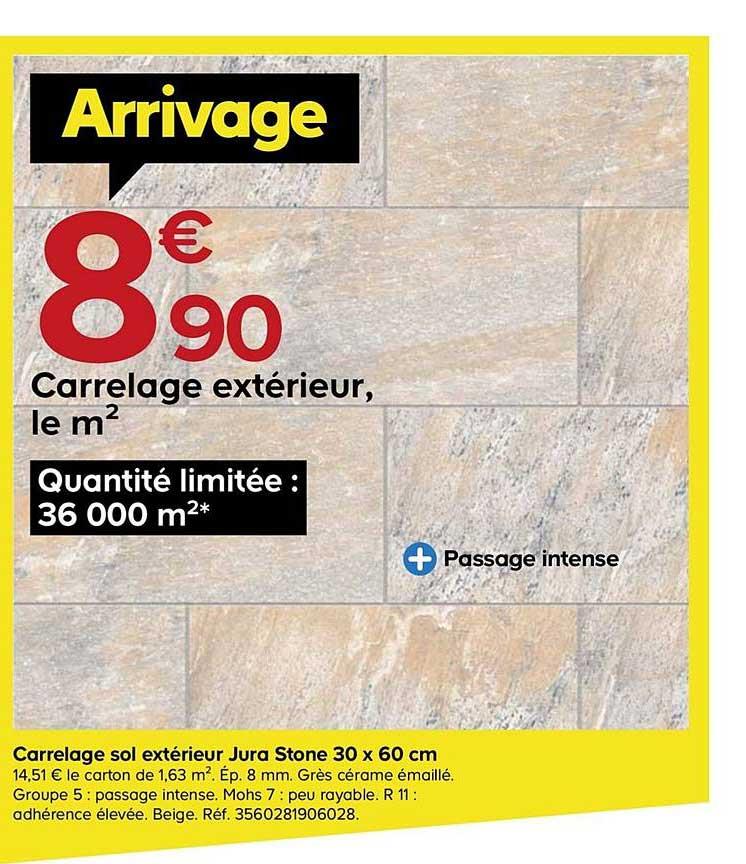 Castorama Carrelage Sol Extérieur Jura Stone 30 X 60 Cm