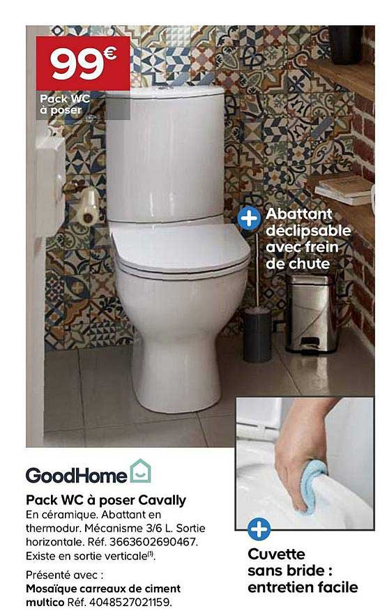 Offre Pack Wc A Poser Cavally Goodhome Chez Castorama