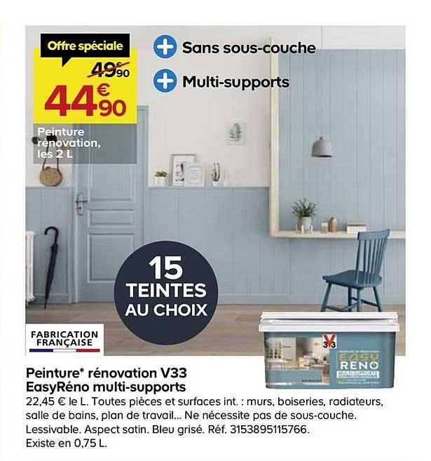 Offre Peinture Renovation V33 Easyreno Multi Supports Chez Castorama