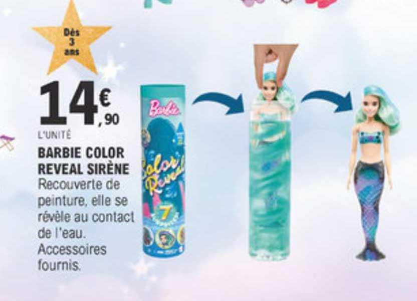 E Leclerc Barbie Color Reveal Sirène