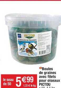 Cora Boules De Graines Avec Filets Pour Oiseaux Pictou