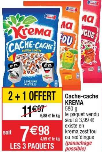 Cora Cache Cache Krema 2+1 Offert