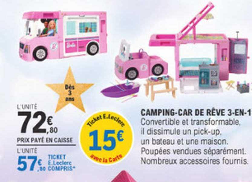 E.Leclerc Camping Car De Rêve 3 En 1