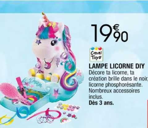 Cora Canal Toys Lampe Licorne Diy