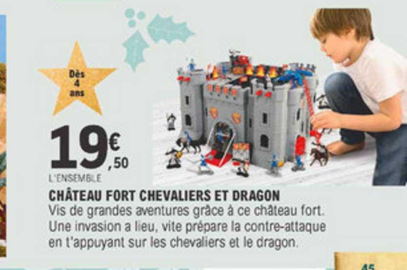E Leclerc Château Fort Chevaliers Et Dragon