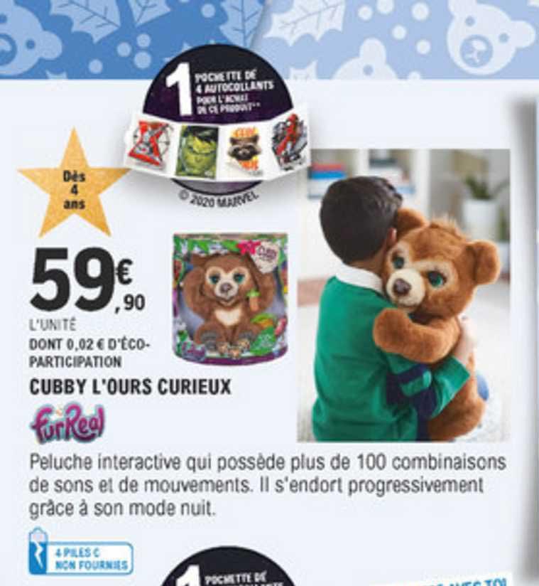 E Leclerc Cubby L'ours Curieux Furreal