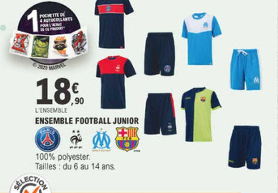 Offre Ensemble Football Junior Chez E Leclerc