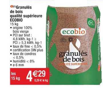 Cora Granulés De Bois Qualité Supérieure Ecobio