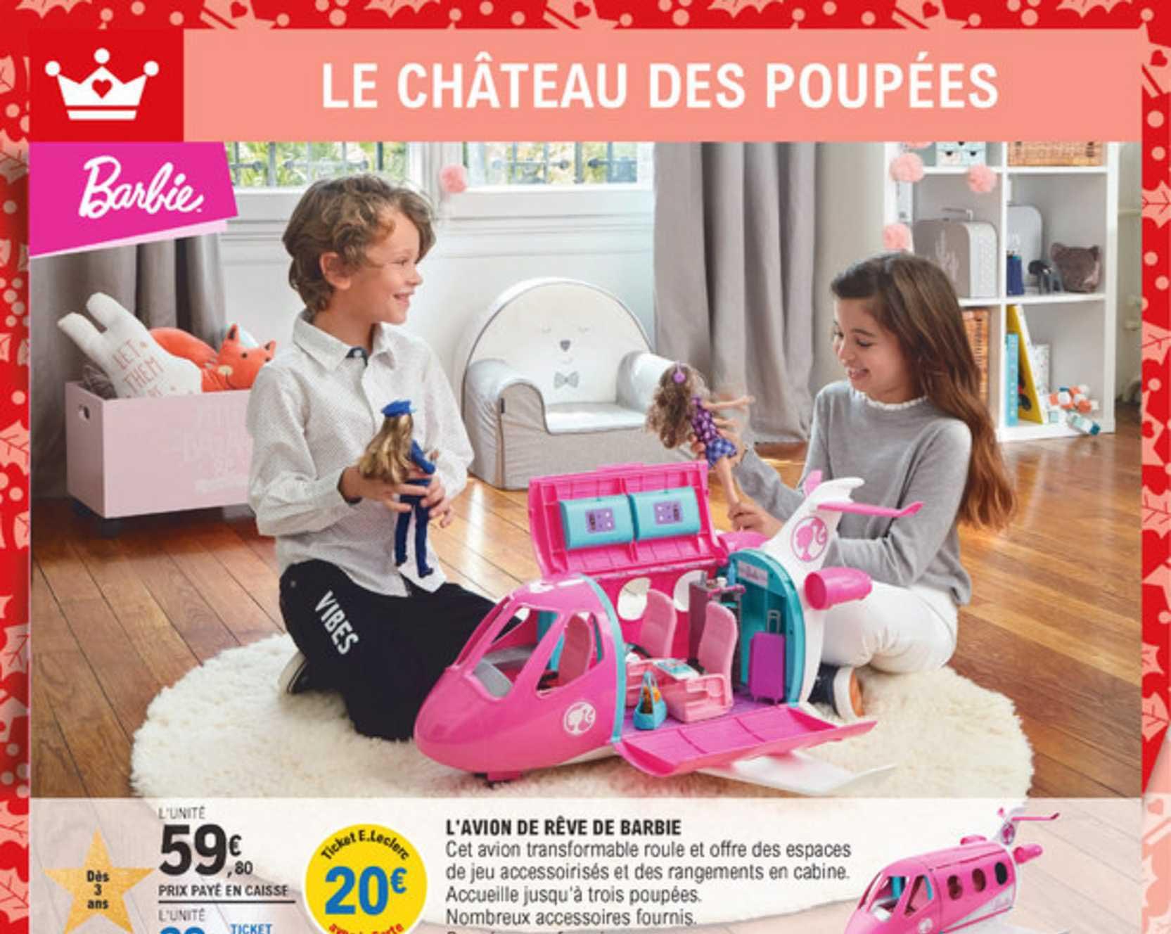 E Leclerc L'avion De Rêve De Barbie