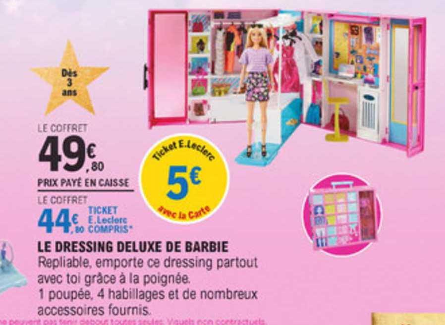 E Leclerc Le Dressing Deluxe De Barbie