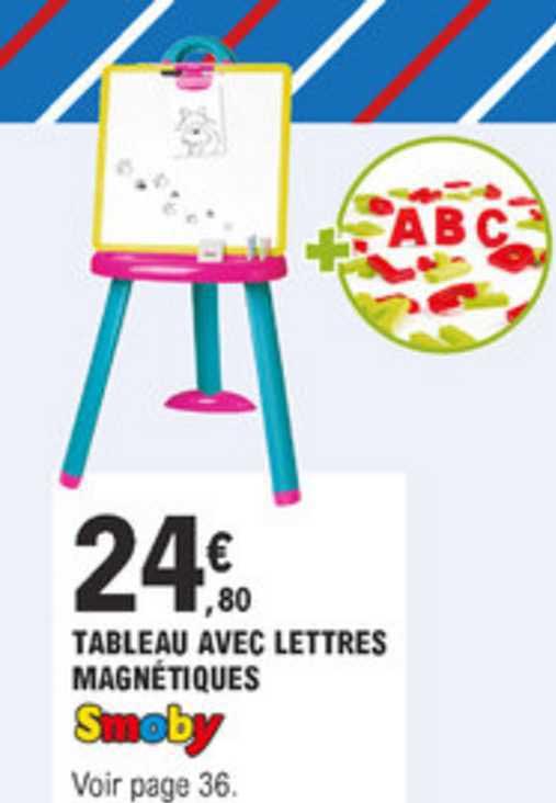 Offre Tableau Avec Lettres Magnetiques Smoby Chez E Leclerc