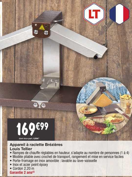 Migros France Appareil à Raclette Brézières Louis Tellier