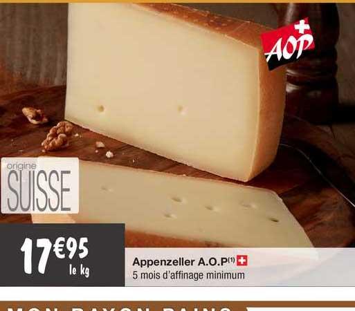 Migros France Appenzeller A.o.p.