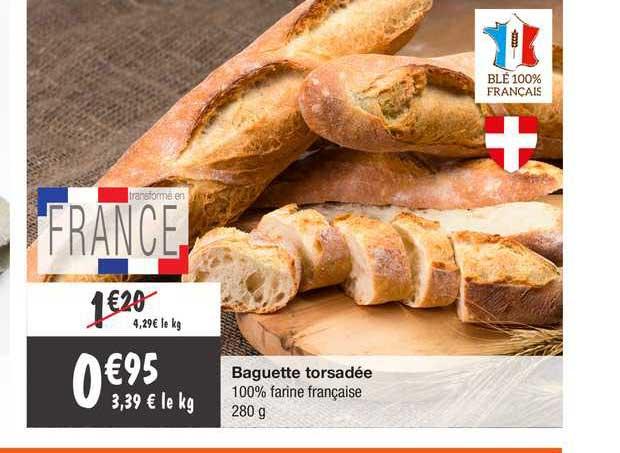 Migros France Baguette Torsadée