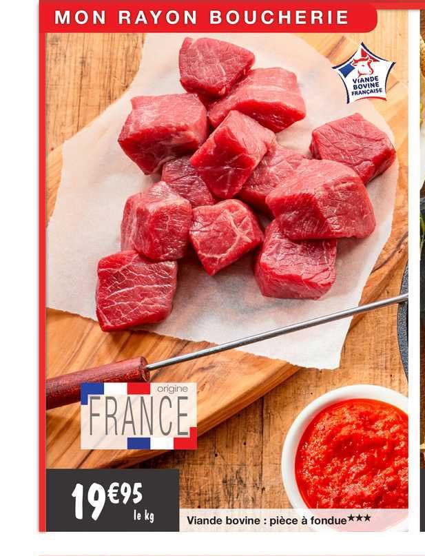 Migros France Viande Bovine : Pièce à Fondue