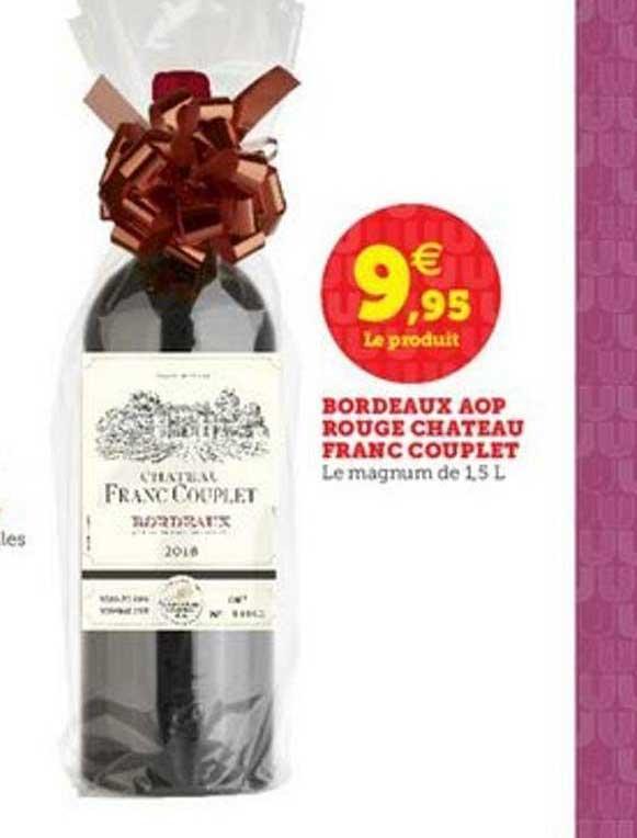 U Express Bordeaux Aop Rouge Château Franc Couplet