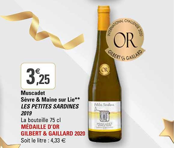 G20 Muscadet Sèvre & Maine Sur Lie Les Petites Sardines 2019
