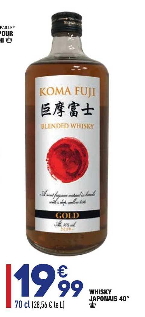 Aldi Whisky Japonais 40°koma Fuji