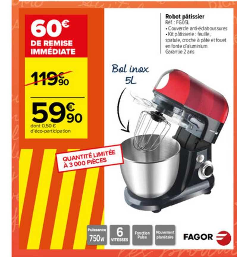 Carrefour Robot Pâtissier Fago