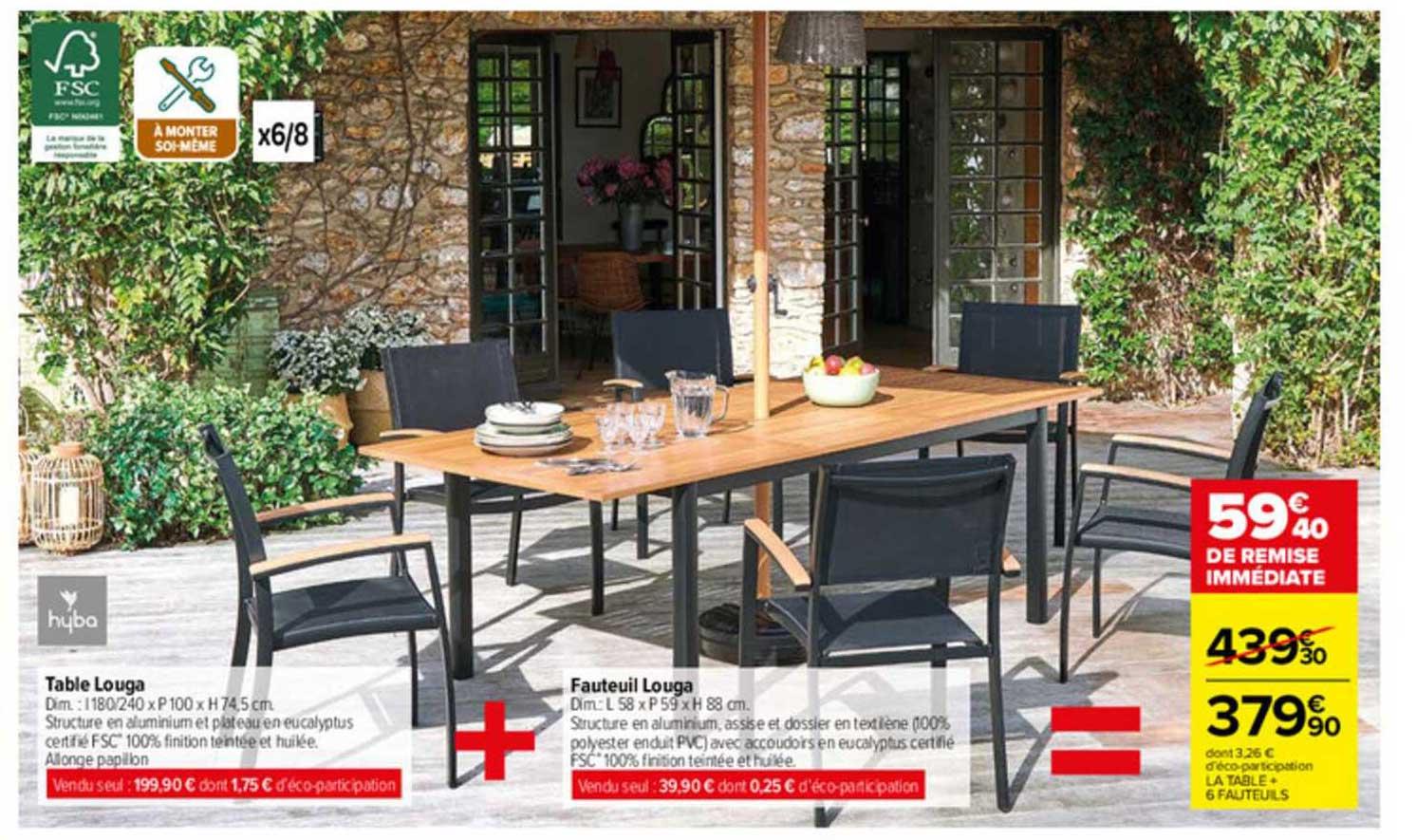 Carrefour Table Louga, Fauteuil Louga