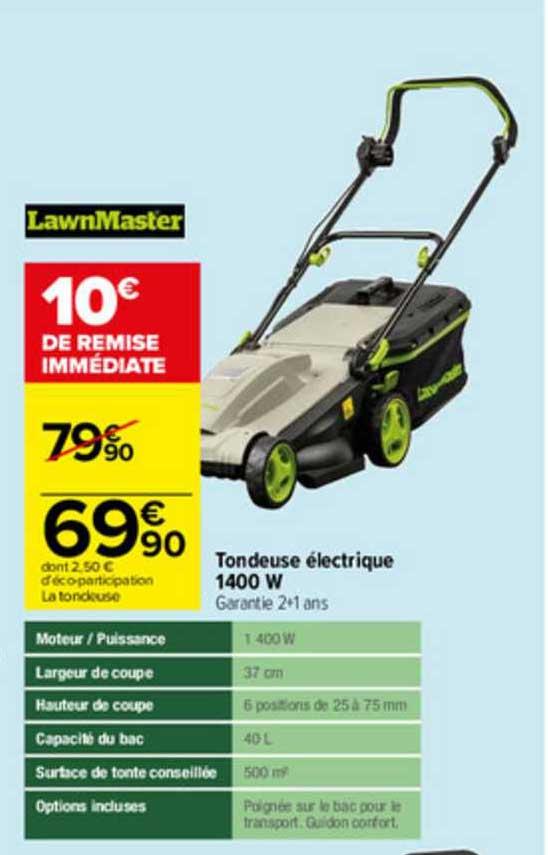 Carrefour Tondeuse électrique 1400 W