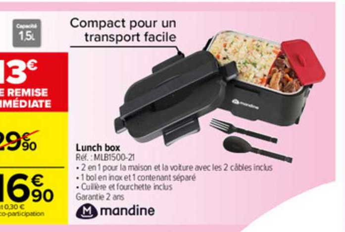 Carrefour Contact Lunch Box Mandine