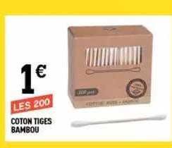 Centrakor Coton Tiges Bambou